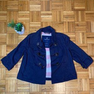 American Eagle Nautical Navy Blue Jacket Coat